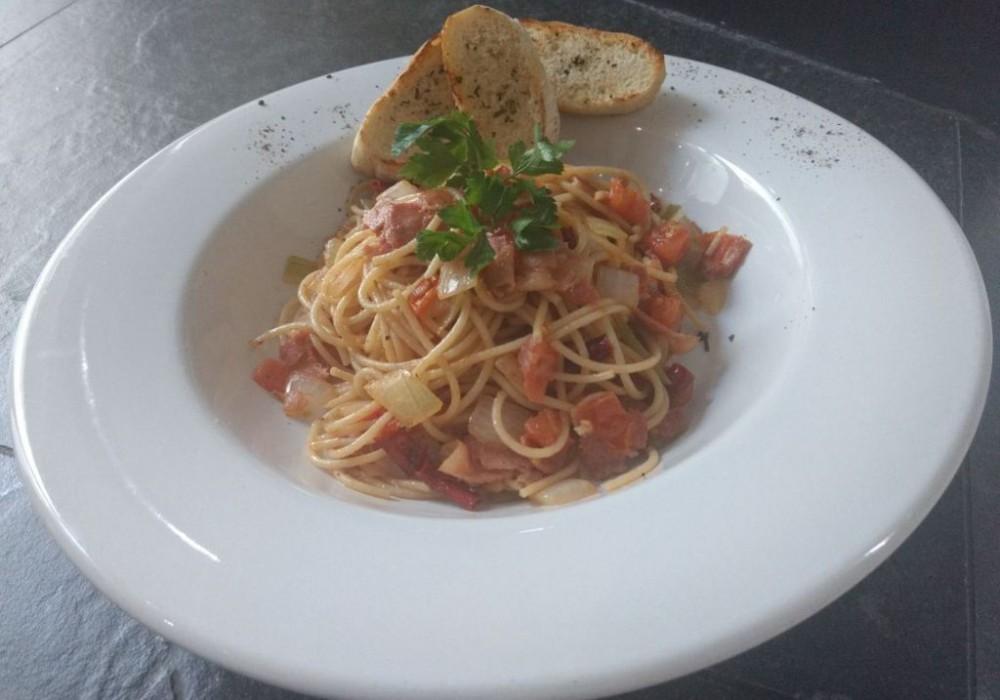 Espaguetti Amatricciana